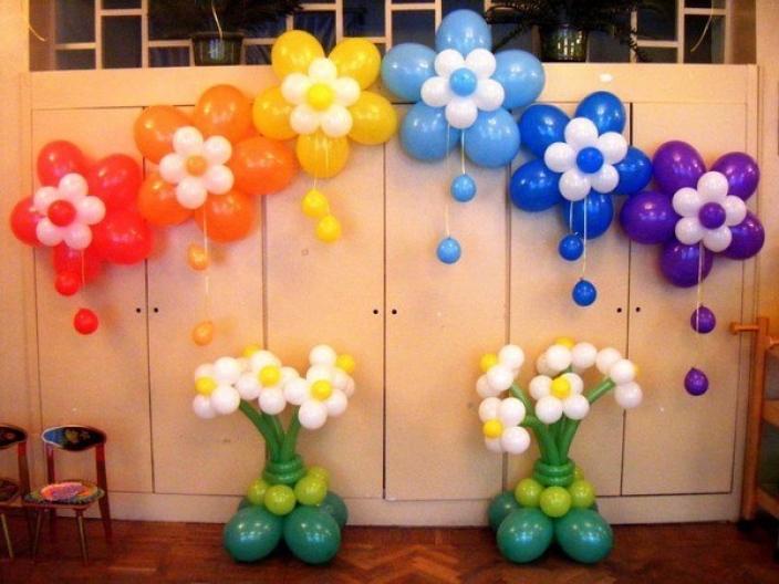 Украшения воздушными шарами фото своими руками